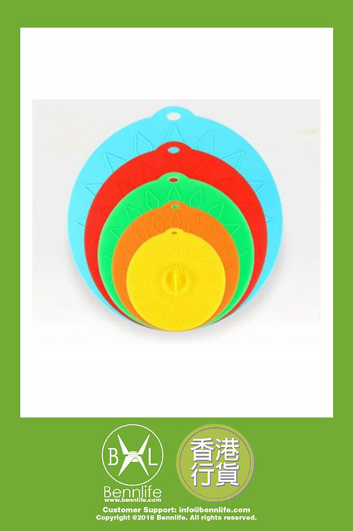 Bennlife 賓尼生活 硅膠鍋蓋 杯蓋 5件套 可放入微波爐(混色隨機顏色)