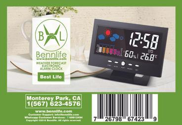 Bennlife賓尼生活 家用多功能天氣預報電子鬧鐘