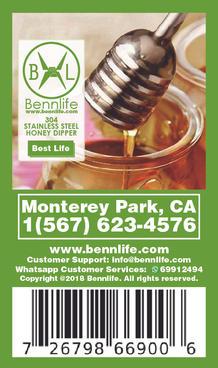 Bennlife 賓尼生活 304不銹鋼 蜂蜜杓 蜜糖杓 蜜糖棒