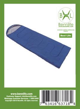 Bennlife 賓尼生活 春夏秋季信封式戶外露營睡袋 單人睡袋野營成人室內保暖(一件)