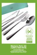 Bennlife賓尼生活 環保減塑,可重複使用的不銹鋼飲管餐具套裝 (連綠色儲物盒)