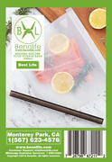 Bennlife賓尼生活 矽膠廚房收納袋/ 保鮮袋/密封袋 (透明1000ML) (灰色, 1件)
