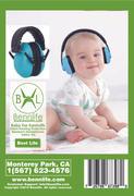 Bennlife賓尼生活 兒童隔音耳罩-防嘈音 (藍色)