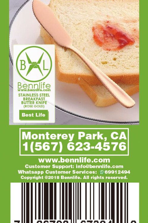 Bennlife 賓尼生活 不銹鋼奶酪甜點刀,牛油刀(玫瑰金)