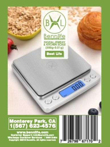 Bennlife賓尼生活 廚房食物電子秤 料理秤