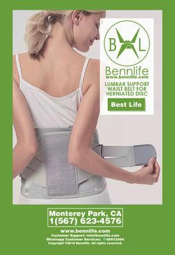 Bennlife 賓尼生活 脊柱側彎的腰部支撐腰帶/ 透氣網眼設計/可調節腰封(灰色)