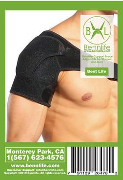 Bennlife 賓尼生活 可調式護肩 護肩帶 肩膀保護 通用尺碼