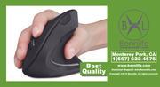 Bennlife賓尼生活 2.4G無線垂直滑鼠,5個按鈕,適用於筆記本電腦,台式機,PC (性價比極高)