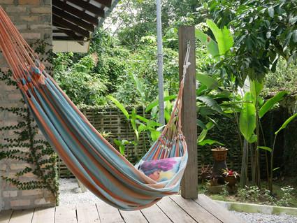 7 An open air hammock resting by the jun