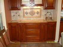 Cabinets and Tile work
