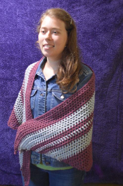 2 tone shawl