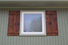 Cedar Shutters with v-Groove
