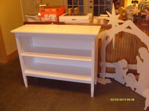 Open White 2 shelf Cabinet