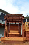 Cedar Pergola with Swing Option
