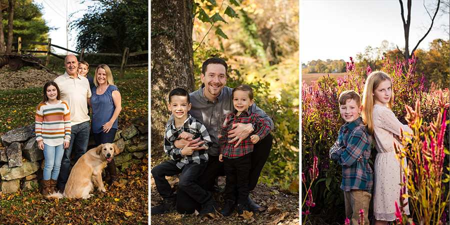 Family pictures with kids in nature