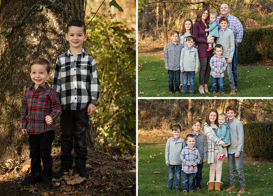 Family pictures with kids outside
