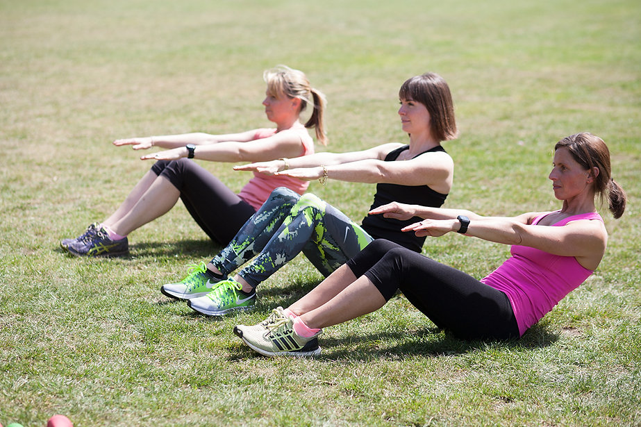 Group exercise class on Tooting Common
