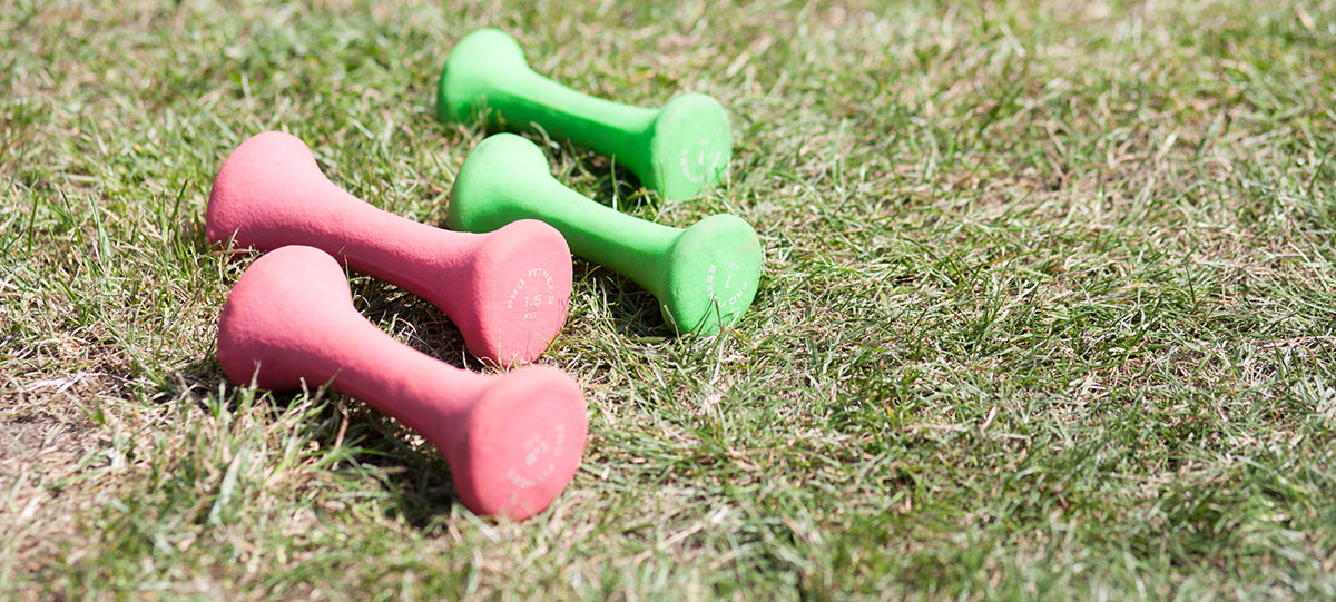 Dumbells on wandsworth common