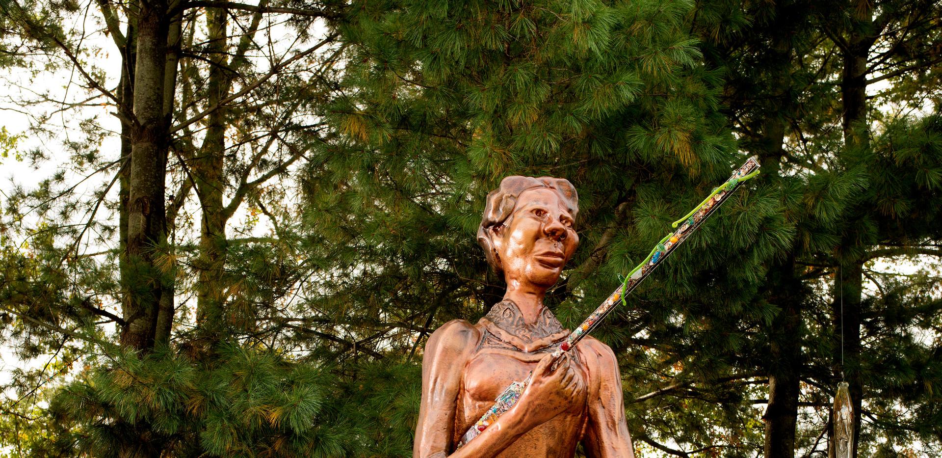 Dr. Joyce J Scott, Araminta with rifle