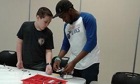 Robotics Camp 2018 - Manny and ALEX work