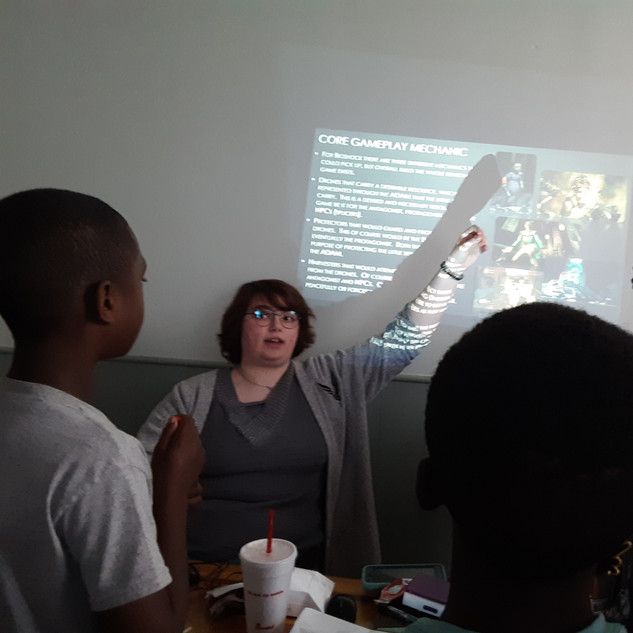 I Design Camp - At the Board with Mia  2