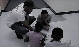 Robotic Camp 2018 - Manny and  3 kids on