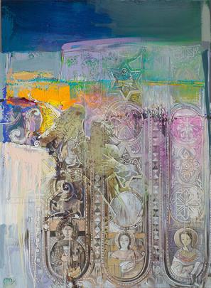ATTRAVERSO IL TEMPO, CAPPELLA PALATINA, PALERMO Acrilico su tela cm. 80x100