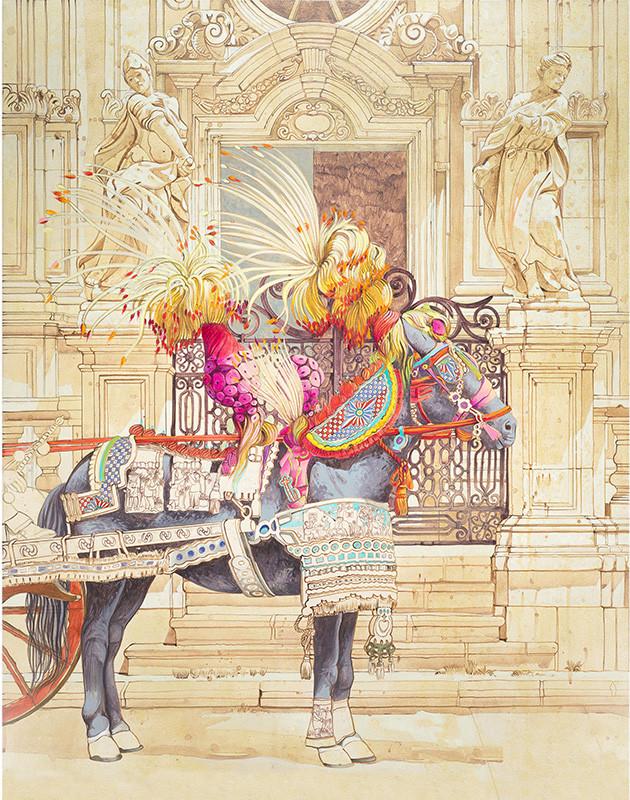 SAGRATO DELLA CHIESA DI S. SEBASTIANO, ACIREALE Acrilico su tela cm 80x100