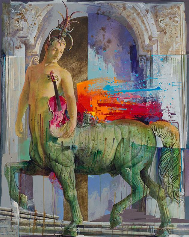CENTAURO Acrilico su tela cm. 120x150