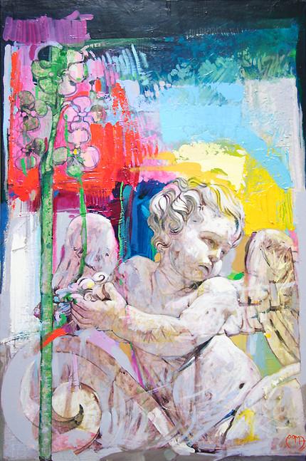 PARTICOLARE CHIESA DI SAN GIULIANO, VIA DEI CROCIFERI, CATANIA Acrilico su tela cm. 40x60