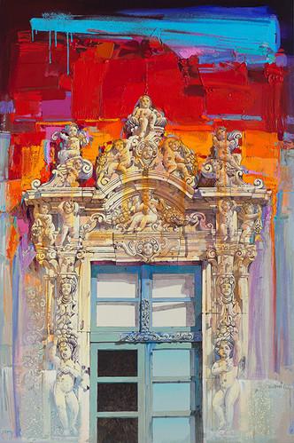 PALAZZO BISCARI, CATANIA Acrilico su tela cm. 100x150