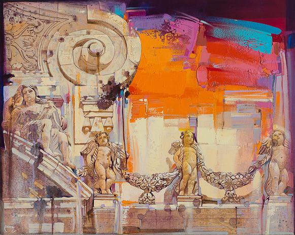CHIESA DI S. SEBASTIANO, ACIREALE Acrilico su tela cm. 80x100
