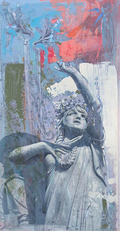 CASTA DIVA (OMAGGIO A VINCENZO BELLINI), CATANIA Acrilico su tavola cm 25x50