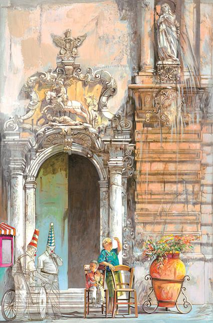 CATTEDRALE S.S. SALVATORE, MAZARA DEL VALLO, TRAPANI Acrilico su tela cm. 40x60