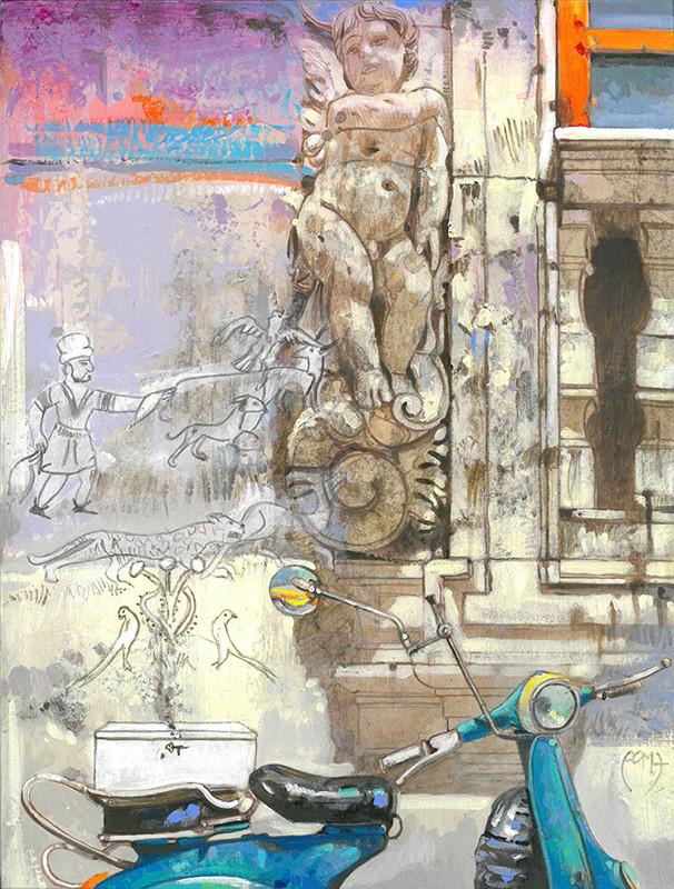 VISIONI EBURNEE, TESORO DELLA CAPPELLA PALATINA, PALERMO Acrilico su tavola cm. 23x30