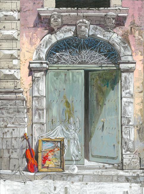 CASTELLO URSINO, CATANIA Acrilico su tela cm. 40x50