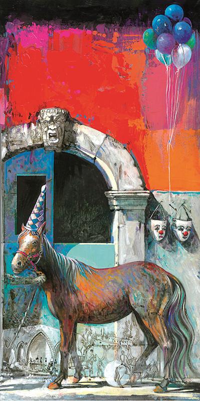 IL PONTE DELL'AMMIRAGLIO, PALERMO Acrilico su tavola cm. 25x50