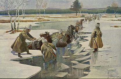 ridiger-pereprava-kazachego-otryada-1915