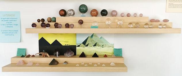 Sfere e Piramidi cristallo - L'Alchimista