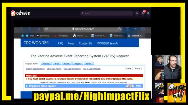 VAERS - VACCINE ADVERSE REACTION REPORTING SYSTEM REPORT BY HIGHIMPACTFLIX