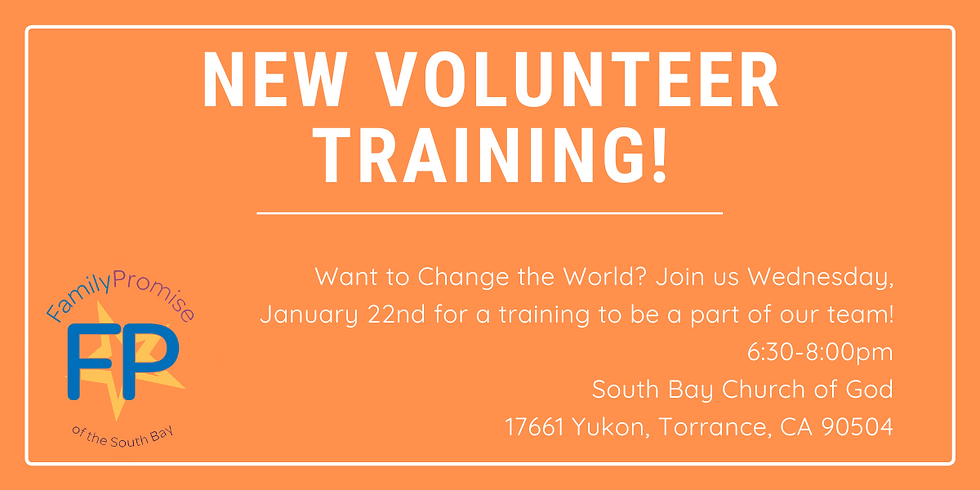 New Volunteer Training