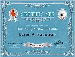 BQH Certificate Karen Baquiran