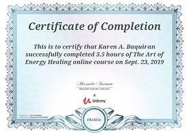 Energy Healing Certificate