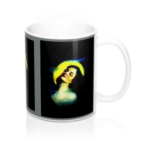 Misty Moonlight Goddess Coffee Mug Full Moon Maiden BOHO Chic Kitchen Decor