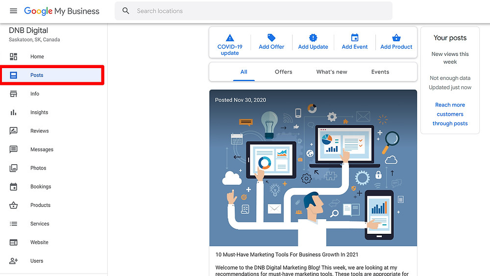 DNB Digital Google My Business Posts
