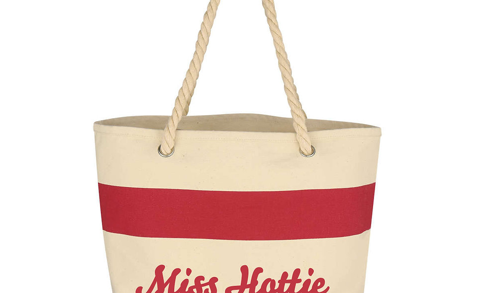 Cotton Tote Bag With Rope Handles