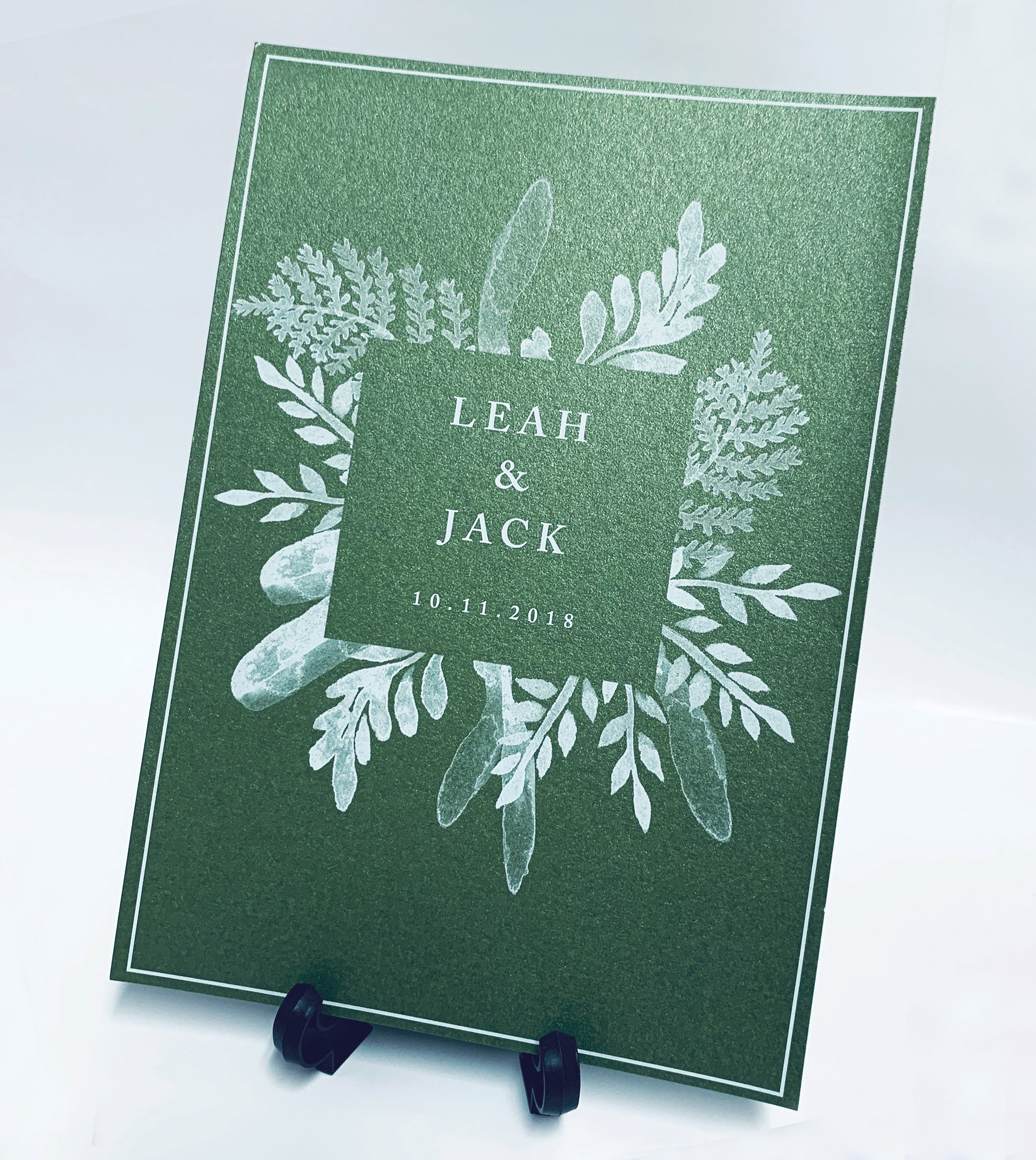 Leah & Jack - White Ink Print