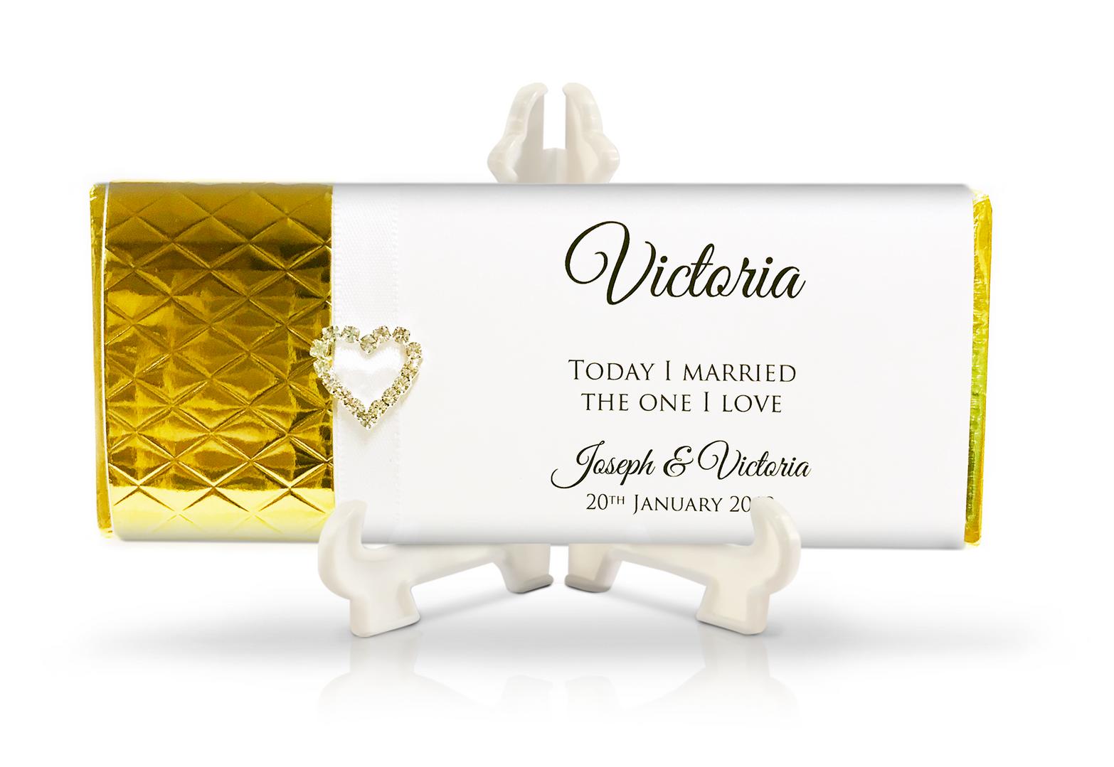 Gold Diamond Embossed with Diamante