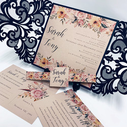 Blush Floral with Navy