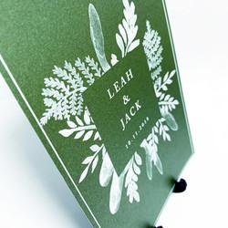 Leah & Jack - White Ink Print